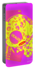 Pop Art Poker Portable Battery Charger