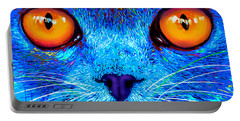 pOpCat Boe - Big Orange Eyes Portable Battery Charger