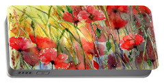 Poppies Bathing In The Sun Portable Battery Charger