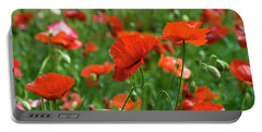 Poppies In The Field Portable Battery Charger
