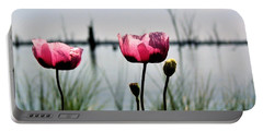 Poppies On Lake Mulwala 2 Portable Battery Charger