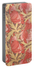 Portable Battery Charger featuring the painting Poppies by William Morris