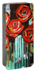 Poppy Abstract Portable Battery Charger