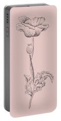 Poppy Blush Pink Flower Portable Battery Charger