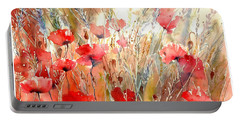 Poppy Fields Forever Portable Battery Charger