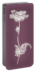 Poppy Purple Flower Portable Battery Charger
