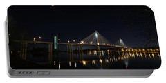 Port Mann Bridge With Blood Moon Portable Battery Charger