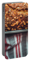 Portion Of Freshly Baked Banana Bread  Portable Battery Charger