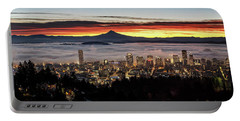 Portland Foggy Sunrise Portable Battery Charger