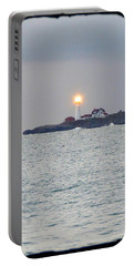 Portland Head Lighthouse Through The Gun Port Portable Battery Charger