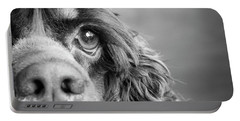 Portrait Of A Cocker Spaniel Dog Portable Battery Charger