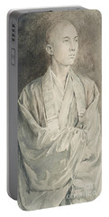 Portrait Of A Priest At Temple Of Lyemitsu, Nikko, 1888  Portable Battery Charger