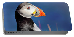 Portrait Of A Puffin - Staffa - Scotland Portable Battery Charger