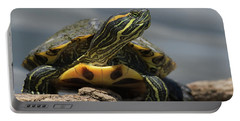 Portrait Of A Turtle Portable Battery Charger