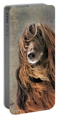 Portrait Of An Afghan Hound Portable Battery Charger