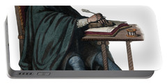 Portrait Of Rene Descartes 1596-1650, French Philosopher And Writer Portable Battery Charger