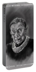 Portrait Of Ruth Bader Ginsburg Portable Battery Charger