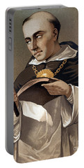 Portrait Of St Thomas Aquinas 1225-1274, Italian Theologian Portable Battery Charger