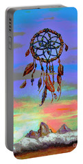 posterized Sweet Dreams Tetons Portable Battery Charger