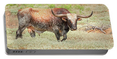 Prairie Longhorn Portable Battery Charger