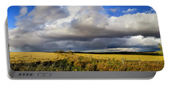 Portable Battery Charger featuring the photograph Prairie Thunderstorm by Philip Rispin