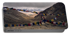 Prayer Flags In The Himalayas Portable Battery Charger