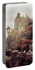 Pretty Autumn Morning In San Marino Portable Battery Charger