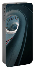 Pretty Blue Spiral Staircase Portable Battery Charger