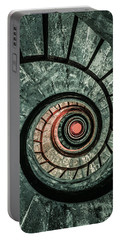 Pretty Green Spiral Staircase Portable Battery Charger