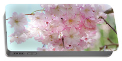 Pretty Pink Blossoms Portable Battery Charger