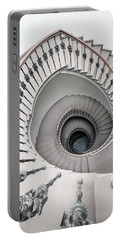 Pretty White Spiral Staircase Portable Battery Charger