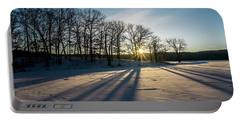 Pretty Winter Sun Rise Scene Portable Battery Charger