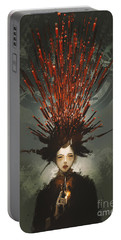 Portable Battery Charger featuring the painting Prey With A Gun by Tithi Luadthong