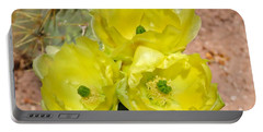 Prickly Pear Cactus Trio Bloom Portable Battery Charger