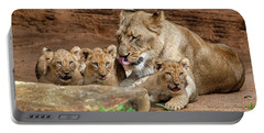 Portable Battery Charger featuring the photograph Pride Of The Pride 6114 by Donald Brown