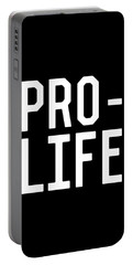 Portable Battery Charger featuring the digital art Pro Life by Flippin Sweet Gear