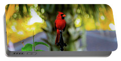 Proud Male Cardinal Portable Battery Charger