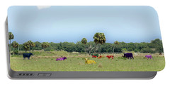 Psychedelic Cows Portable Battery Charger