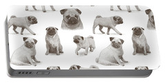 Pug Pattern Portable Battery Charger