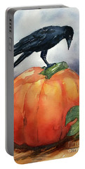 Pumpkin And Crow Portable Battery Charger