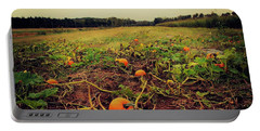 Pumpkin Picking Portable Battery Charger