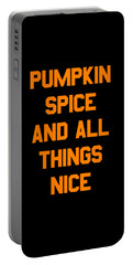 Pumpkin Spice And All Things Nice Portable Battery Charger