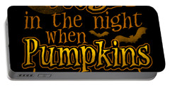 Pumpkins Glow At Midnight Halloween Horror Night Portable Battery Charger