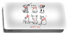 Puppy Love - Baby Room Nursery Art Poster Print Portable Battery Charger