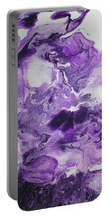 Purple Chaos Abstract 1  Portable Battery Charger