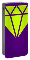 Purple Diamond Yellow Portable Battery Charger