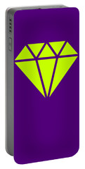 Purple Diamond Yellow Portable Battery Charger