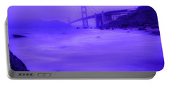 Purple Golden Gate Fog Portable Battery Charger