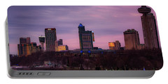 Purple Haze Skyline Portable Battery Charger