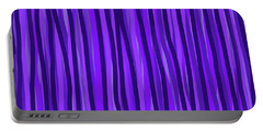 Purple Lines Portable Battery Charger